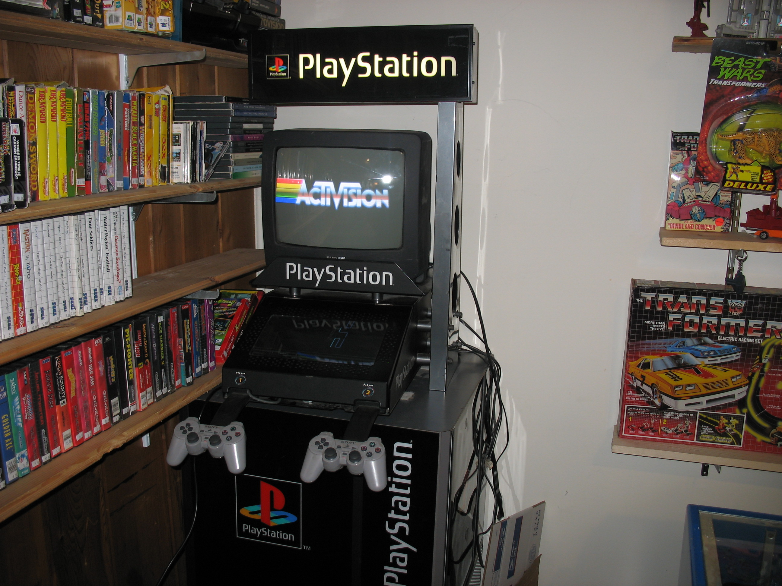 Playstation 1 Store Display Kiosk W Stand